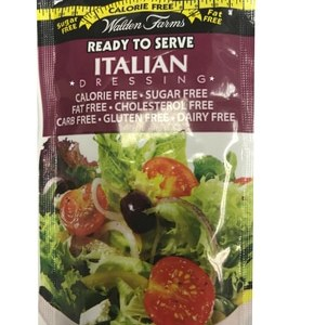 WaldenFarms - Italian Single Serve Packets 1oz. No Calories, fat, Carbs, gluten or sugars, Kosher