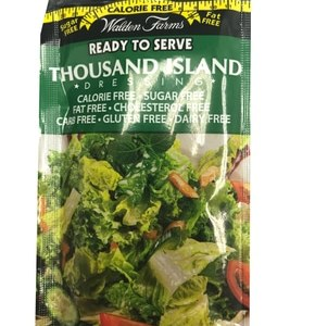 WaldenFarms - Thousand Island Single Serve Packets 1oz. No Calories, Fat, Carbs, Gluten or Sugars, Kosher
