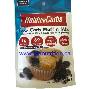 Hold The Carbs Low Carb Muffin Mix small bag 80g | Low Carb Muffin Mix, Gluten Free Muffin Mix, Vegan Muffin Mix - with Stevia To make Low Carb Muffins, Gluten Free Muffins, Vegan Muffins