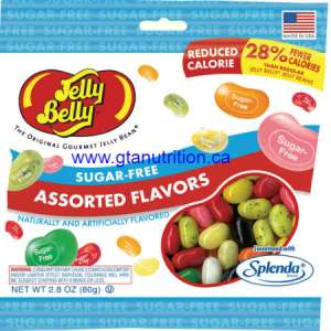 Jelly Belly Sugar Free Assorted Flavors 80g | Fat Free, Gluteen Free, Peanut Free, Low Carb, Kosher and Sweetened With Splenda