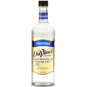 DaVinci Gourmet Sugar Free Syrup Almond 750ml - No Calories, Sugar Free, Great Taste. Sweetened With Splenda For The Same Premium Taste as The Classic Syrups, But Without The Calories. Low Carb, Kosher