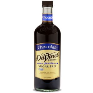 DaVinci Gourmet Sugar Free Syrup Chocolate 750ml - No Calories, Sugar Free, Great Taste. Sweetened With Splenda For The Same Premium Taste as The Classic Syrups, But Without The Calories. Low Carb, Kosher