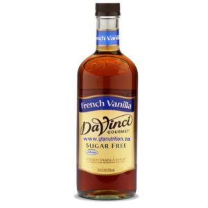 DaVinci Gourmet Sugar Free Syrup French Vanilla 750ml - No Calories, Sugar Free, Great Taste. Sweetened With Splenda For The Same Premium Taste as The Classic Syrups, But Without The Calories. Low Carb, Kosher