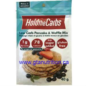 Hold The Carbs Low Carb Pancake & Waffle Mix small bag 40g | Low Carb, Gluten Free, Vegan, with Stevia.