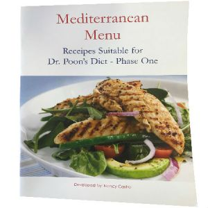 Mediterranean Menu Recipes By Nancy Castro Suitable For Dr. Poon's Metabolic Diet Phase One and Phase Two.
