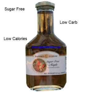 Nature's Hollow Sugar Free Maple Syrup. Sweetened With Xylitol