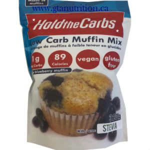 Hold The Carbs Low Carb Muffin Mix Large Bag 320g | Low Carb Muffin Mix, Gluten Free Muffin Mix, Vegan Muffin Mix - with Stevia To make Low Carb Muffins, Gluten Free Muffins, Vegan Muffins