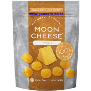 Moon Cheese Natural Crunchy Cheese Snack Cheddar 56g. Only 100% Cheese. 4g Protein.