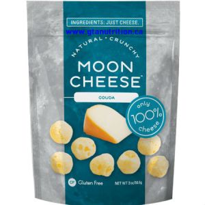 Moon Cheese Natural Crunchy Cheese Snack Gouda 56g. Only 100% Cheese. 4g Protein.