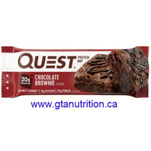 Quest Bar - Chocolate Brownie. Low Carb, High Fiber, High Protein, Gluten Free