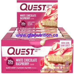 Quest Bar - White Chocolate Raspberry . Low Carb, High Fiber, High Protein, Gluten Free