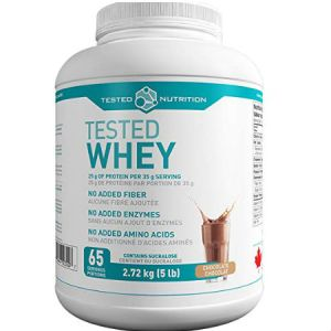 Tested Nutrition Whey Protein - Chocolate - 5lbs. Available in six flavours: Chocolate, Vanilla, Rocky Road, Peanut Butter, Cookies & Cream, Unflavoured.