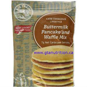 Big Train Buttermilk Pancake and Waffle Mix 9 oz. All natural, High Fiber, High Protein, Sugar Free, Low carb, Low Fat, Kosher