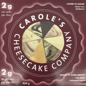 Carole's Assorted Cheesecake Slices 1LB No Sugar Added, Gluten Free All Natural and Low Carb.