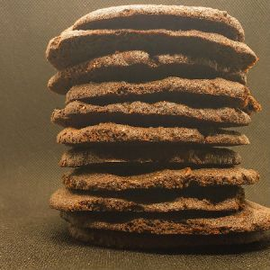 Keto Kitchen Keto Cookies Bakery Style Double Chocolate Chip 6 Cookies in Resealable Bag. Low Carb, Keto, Diabetic Friendly, Wheat and Gluten Free, All Natural, No Sugar Added.