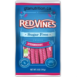 American Licorice Company Red Vines Sugar Free Strawberry Twists 5oz. Live on the sweet side with Red Vines !