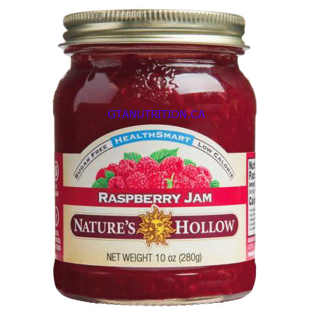 Nature's Hollow Sugar Free Raspberry Jam 10oz. Sweetened With Perfect Blend of Xylitol and Erythritol. Gluten Free, Low Calorie.