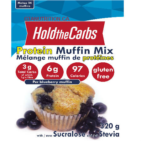 Hold The Carbs Low Carb Protein Muffin Mix Large Bag 320g   Low Carb Muffin Mix, Gluten Free Muffin Mix, Vegan Muffin Mix - with Stevia To make Low Carb Muffins, Gluten Free Muffins, Vegan Muffins