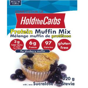 Hold The Carbs Low Carb Protein Muffin Mix Large Bag 320g | Low Carb Muffin Mix, Gluten Free Muffin Mix, Vegan Muffin Mix - with Stevia To make Low Carb Muffins, Gluten Free Muffins, Vegan Muffins