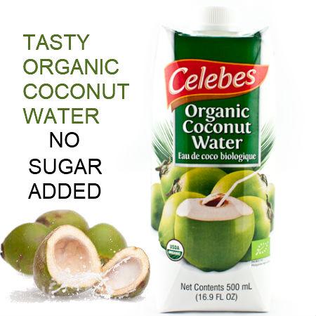 Celebes Organic Coconut Water 500ml. Certified Organic Kosher