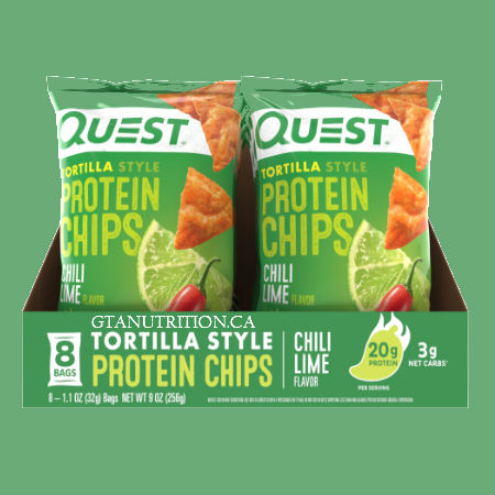 Quest Protein Chili Lime Tortilla Style Chips. Baked Never Fried, Soy Free, Gluten Free | Quest Nutrition is on a mission to make the foods you crave work for you not against you.
