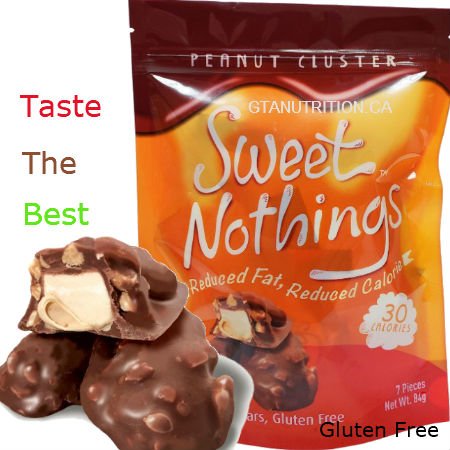Sweet Nothings Peanut Clusters 84g | 30 Calories per one piece, 1g Fat Each! Only 30 calories and 3 net carbs per serving size! Great for all diets including Keto, Weight Watchers (1 SmartPoint per piece), South Beach, Atkins and Dr. Poon Diet! - Gluten Free, Kosher