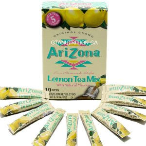 Arizona Lemon Tea With Natural Flavors 10 stix. Herbal Tea, Sugar Free, Low Calories, Kosher