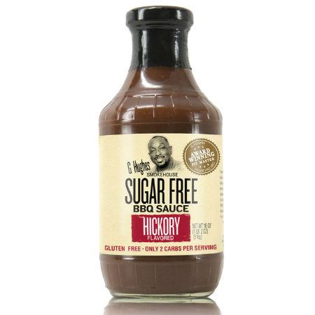 G Hughes Sugar Free BBQ Sauce Hickory 510g. Sugar free, Gluten-free.