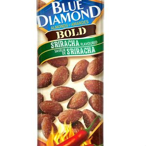 Blue Diamond Smart Snacking Sriracha 43g. Fans of the bold, complex flavours of Sriracha hot sauce can now experience that tangy heat on Blue Diamond