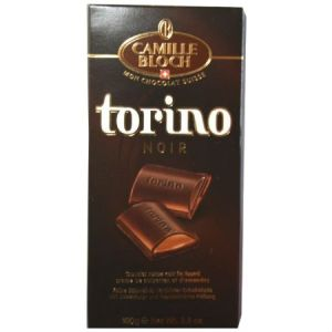 Camille Bloch Swiss Torino Dark Chocolate 100g l No sugar added, sweetened with maltitol, Gluten free, Very low in sodium......