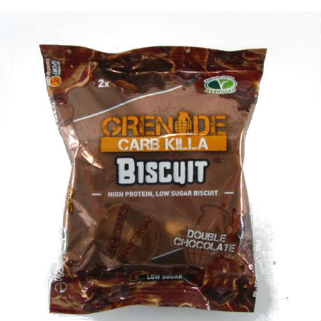 Grenade Carb Killa Biscuit Double Chocolate Low Carb, GMO FREE, High protein, Low sugar, Vegetarian society approved.....