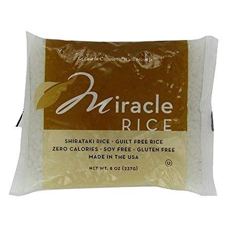 Miracle Rice 227g . Guilt Free Noodle, Low Calories & Carb, Low Sodium, Cholesterol Free, Soy Free, Gluten Free, Vegan, NON GMO, Kosher