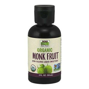 Now Organic Monk Fruit Liquid Sweetener l Zero calorie, Gluten free, NON GMO, USDA Organic, Vegan, Zero carb, Zero sodium...