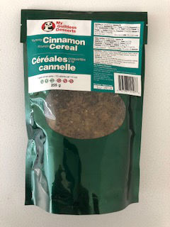 My Guiltless Desserts Yummy Cinnamon Krunch Cereal 255g . Keto, paleo, diabetic friendly. NO GMO, NO soy, NO dairy. Yummy and krunchy.