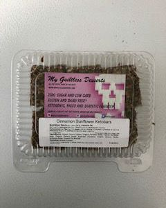 My Guiltless Desserts Cinnamon Sunflower Ketobars 240g. Zero sugar and low carb. Gluten and dairy free. Ketogenic, paleo and diabetic friendly.