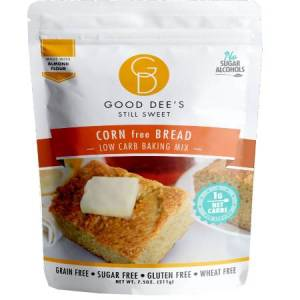Good Dee's Still Sweet Corn free Low Carb Bread Mix 211g. Sugar free, Gluten free, Grain free, Wheat free and made with almond flour..