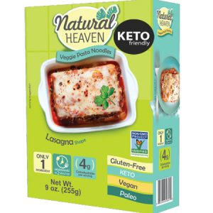 Natural Heaven Veggie Pasta Noodles Lasagan Shape 255g. Gluten free, Vegan, Zero cholesterol, Non GMO, Low carb and calorie...