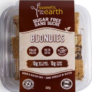 Sweets From The Earth Sugar Free Blondies 132g. Keto friendly, low carb, High protein, gluten free, Non GMO, Paleo friendly...
