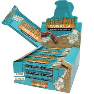 Grenade Carb Killa High Protein Bar Chocolate Chip Salted Caramel l Trusted by sport, 20g protein, low carb, Made in UK, Trans fat free...