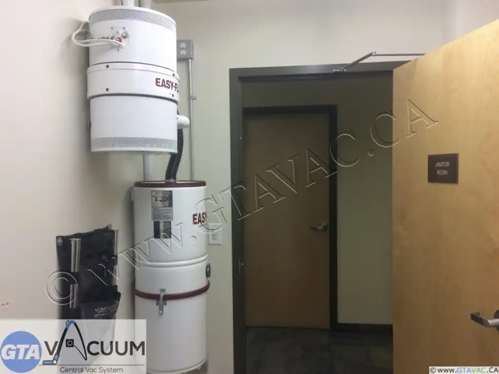 EasyFlo Central Vacuum System In House Service Fire Department Calgary AB 2015 3