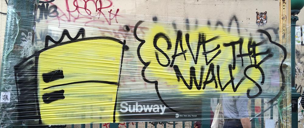 NYC Street Art - Save the Walls