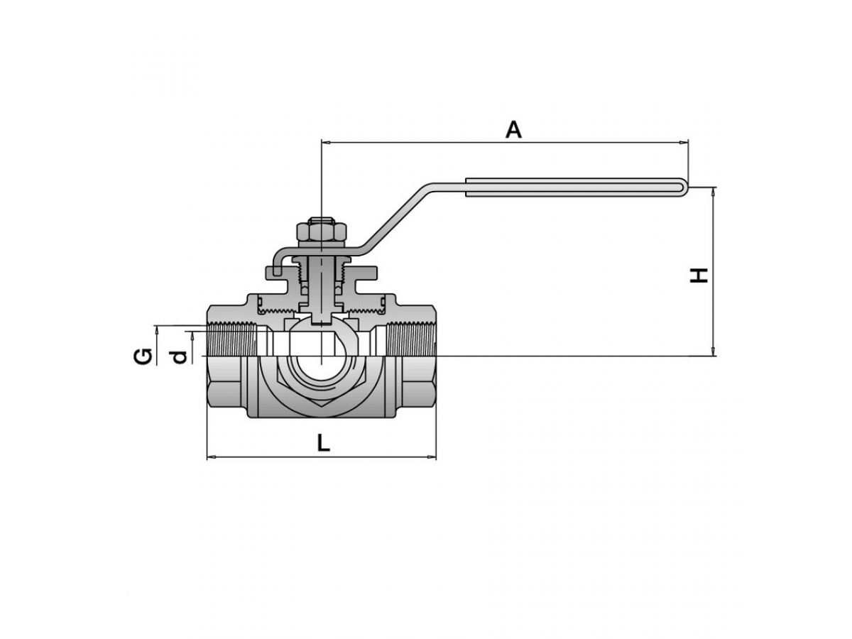 Three Way Stainless Ball Valve
