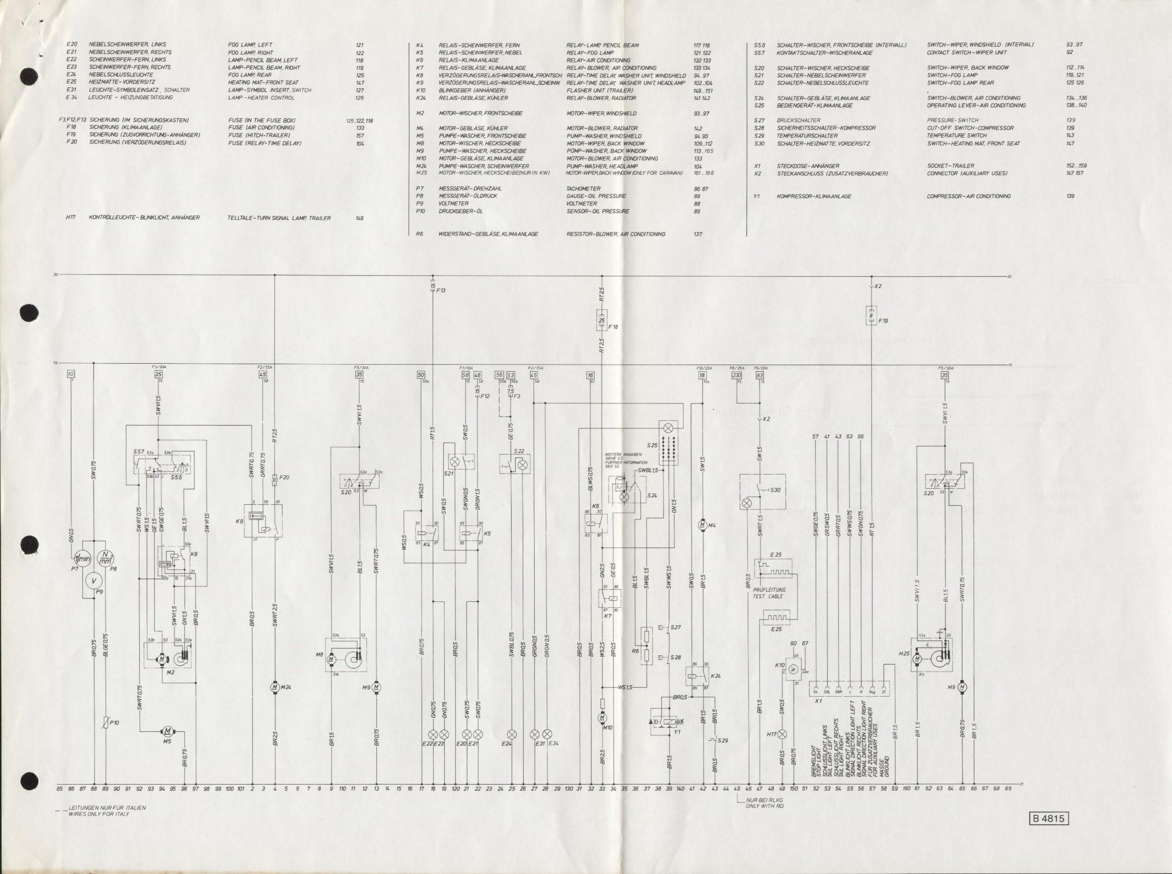 Stromlaufplan Kadett C