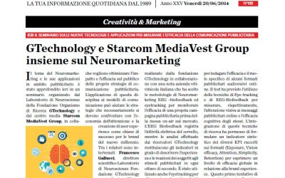 GTechnology e Starcom MediaVest Group insieme sul Neuromarketing