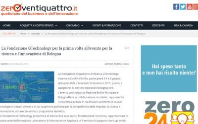 Zeroventiquattro: GTechnology partecipa a R2B 2015