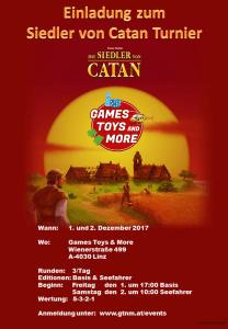 Games, Toys & more Spielegeschäft Linz Catan Turnier