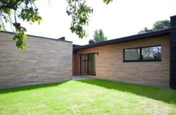 Gevelbekleding huis en schuur