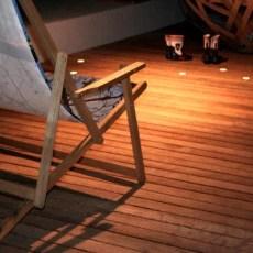Buitenvloer kokoshout met LED verlichting