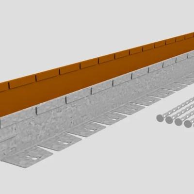 Corten stalen buigzame kantopsluiting 75 mm.