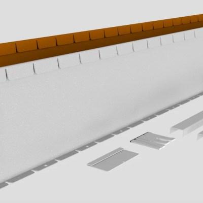 Corten stalen buigzame verhoogde rand 240 mm.